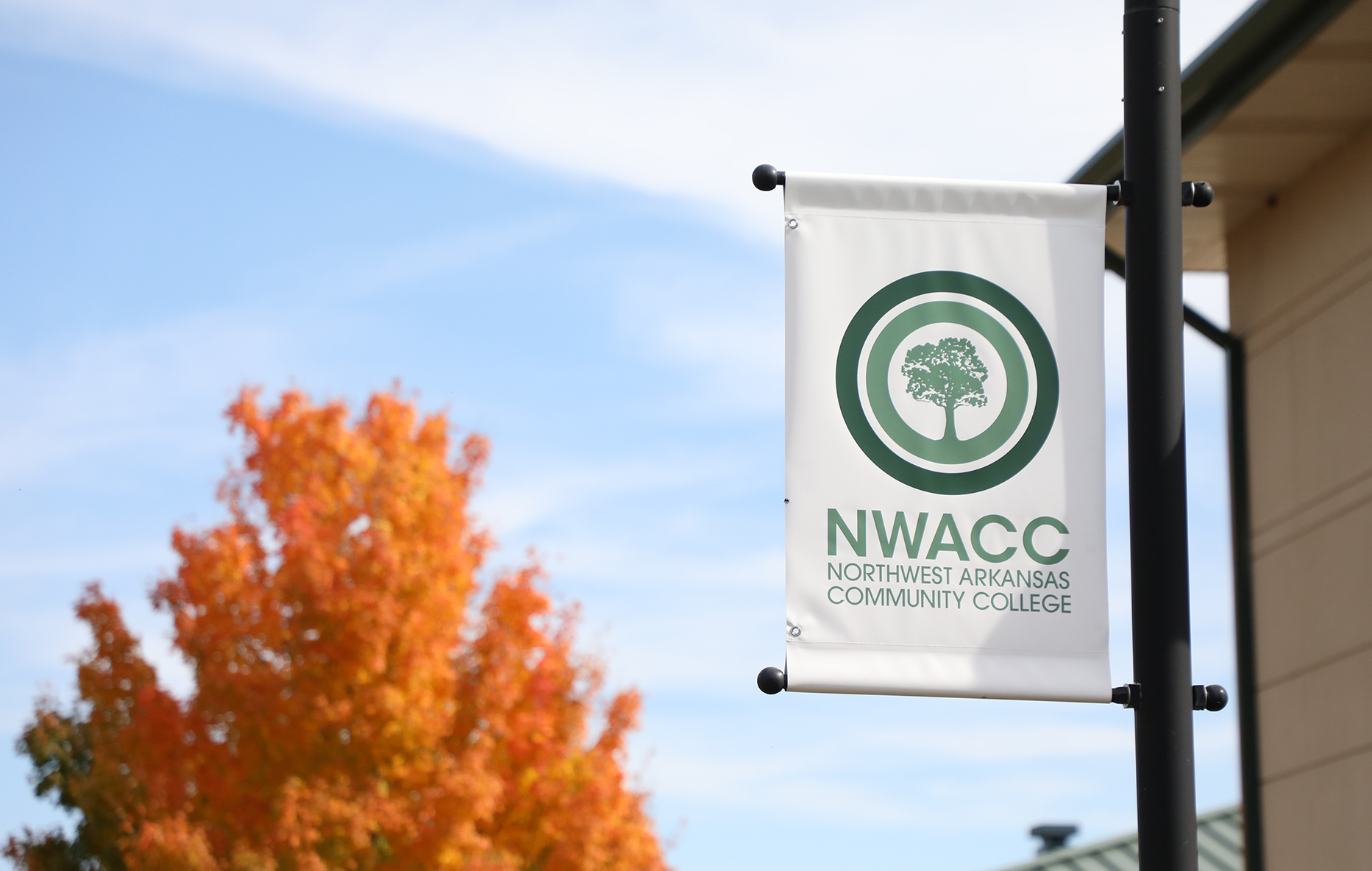 NWACC sign pole banner