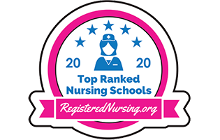 Top Ranked Nursing School logo