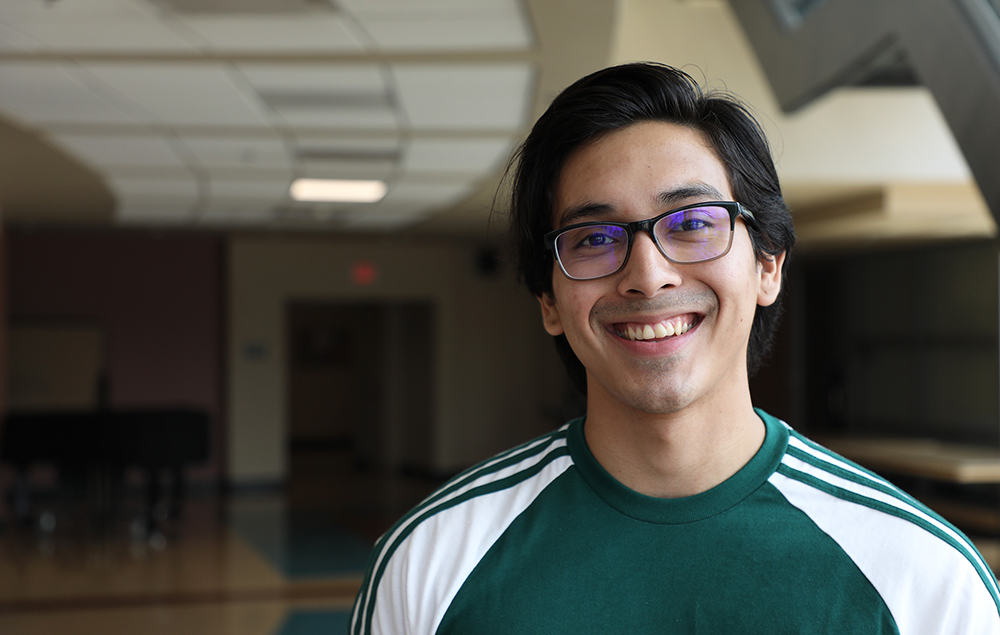 Male student with glasses