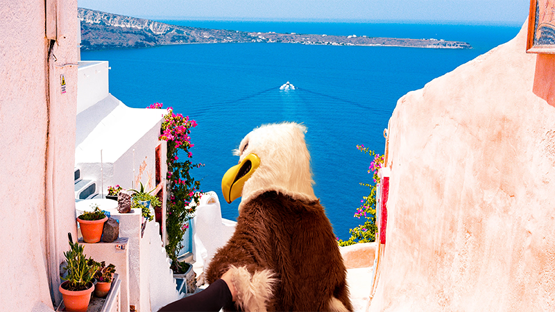 Eddie Eagle in Greece