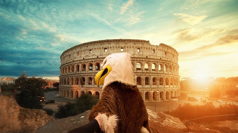 Eddie Eagle in Italy