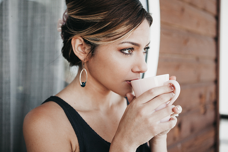 Woman Drinking Coffee