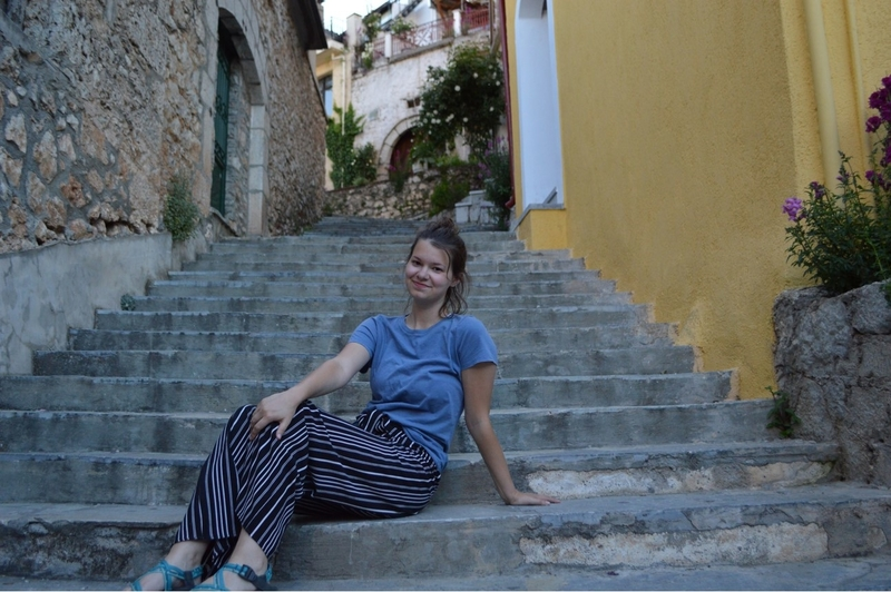NWACC Student, Gabrielle, in Greece