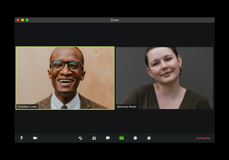 Video Meeting with a Man and Woman