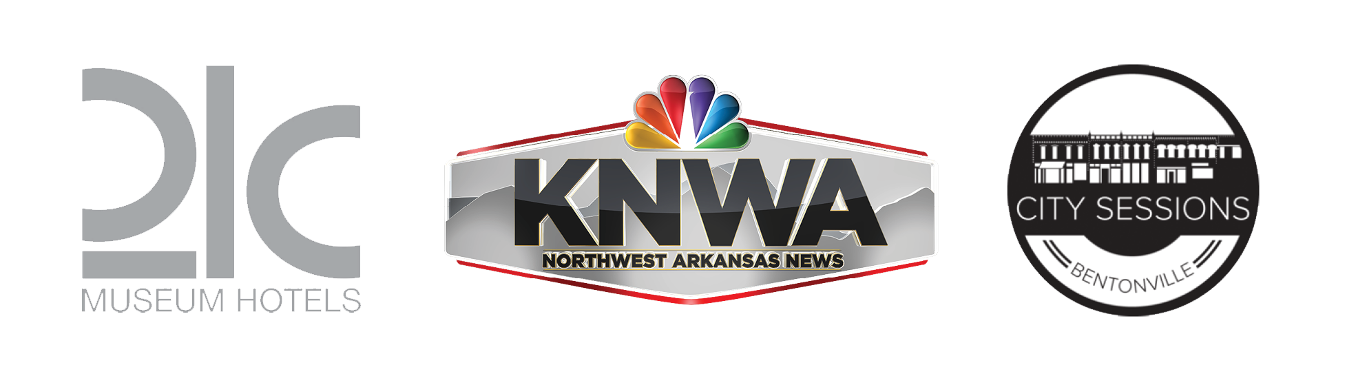 21c KNWA City Sessions logos