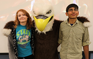 Students with Eddie Eagle
